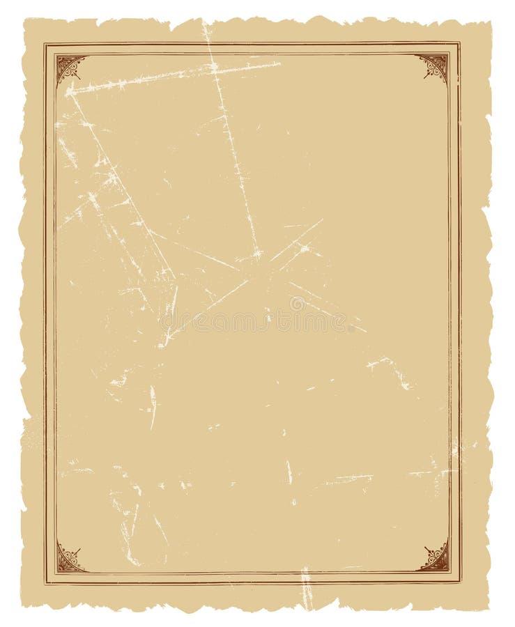 Projeto decorativo do fundo do vetor do frame do vintage ilustração stock