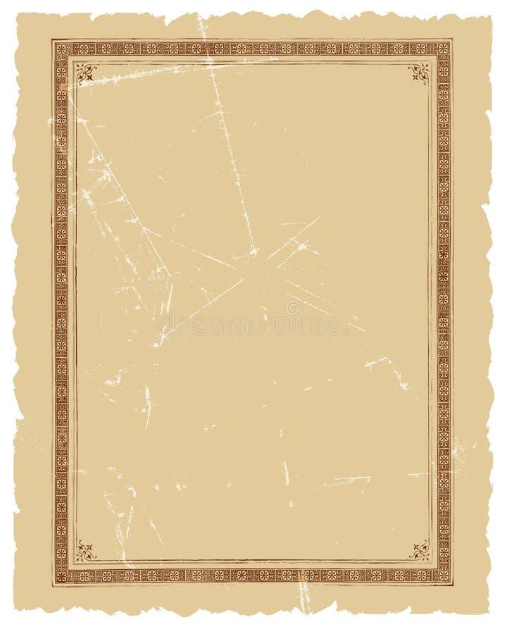Projeto decorativo do fundo do vetor do frame do vintage ilustração royalty free