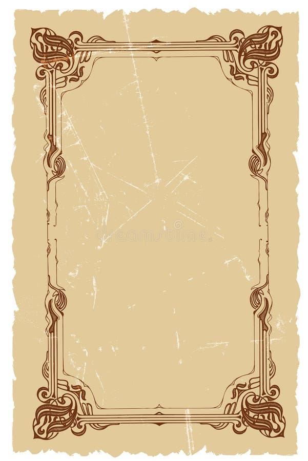 Projeto decorativo do fundo do vetor do frame do vintage ilustração do vetor