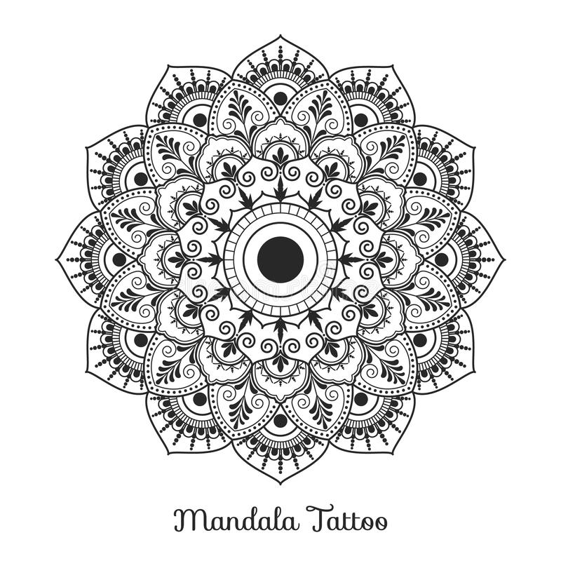 Projeto decorativo do ornamento da mandala ilustração stock