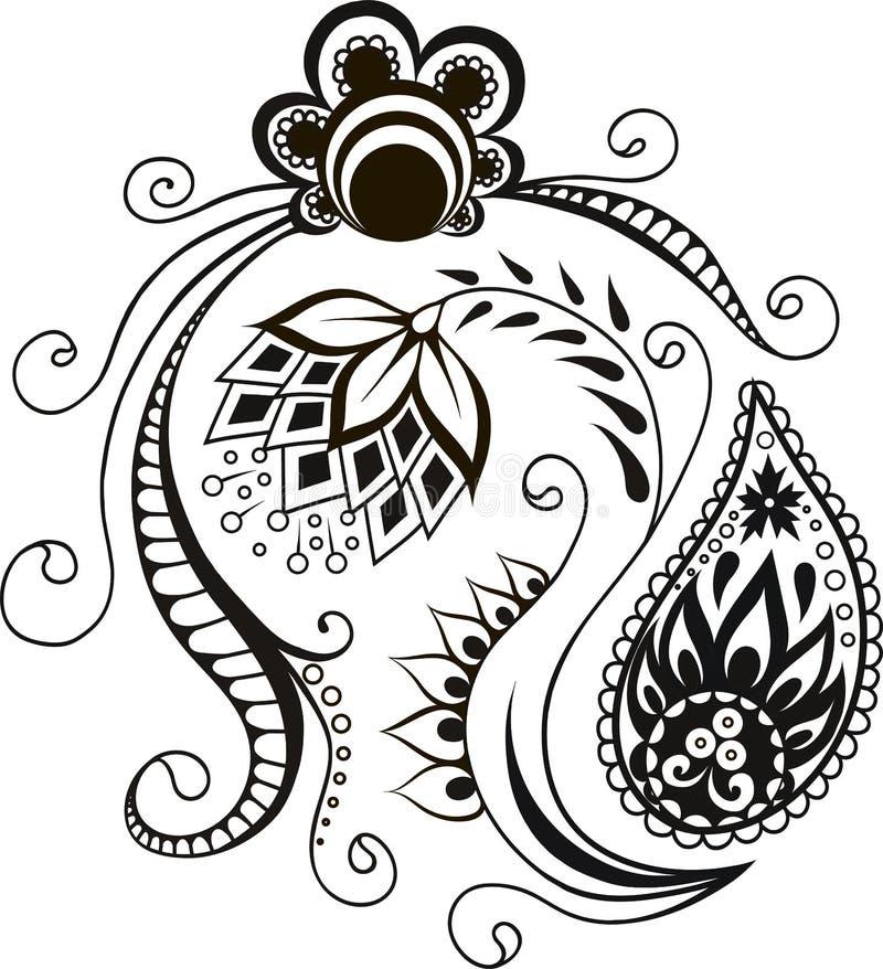 Projeto decorativo decorativo dos elementos do vetor ilustração royalty free