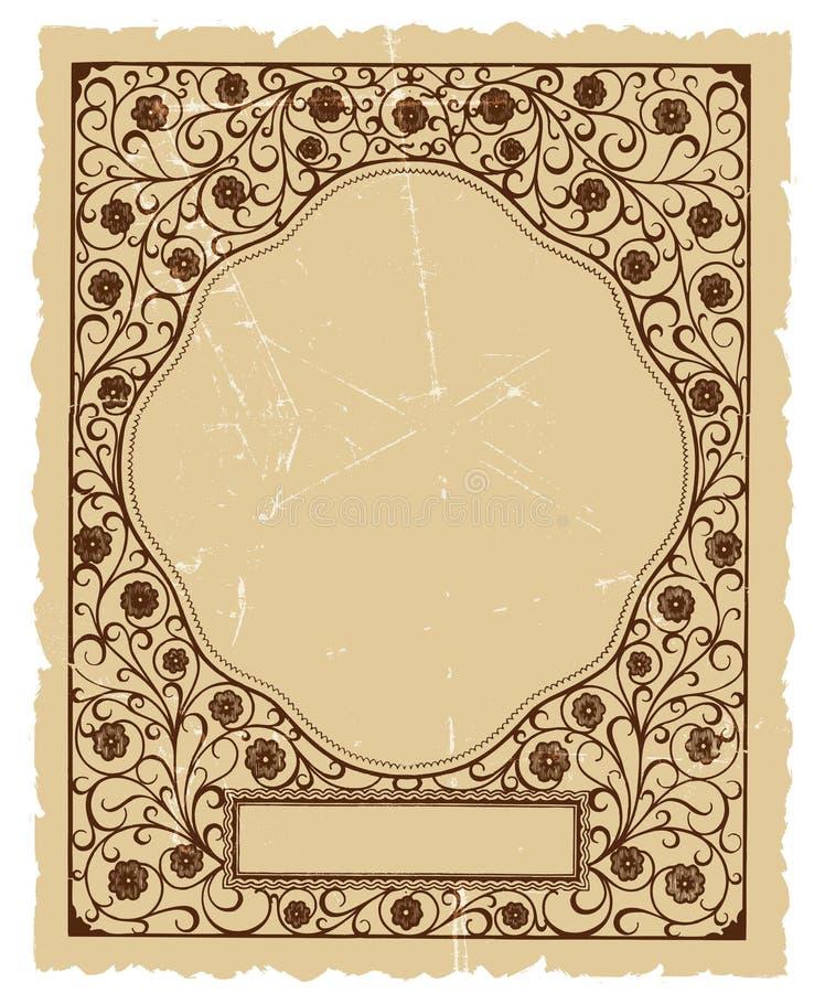 Projeto decorativo floral do fundo do vetor do vintage ilustração stock