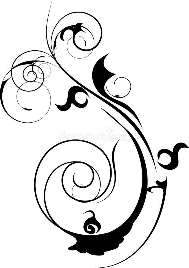 Projeto decorativo preto ilustração royalty free
