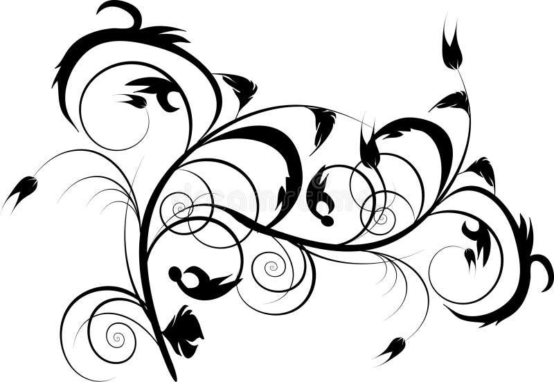 Projeto decorativo preto ilustração do vetor