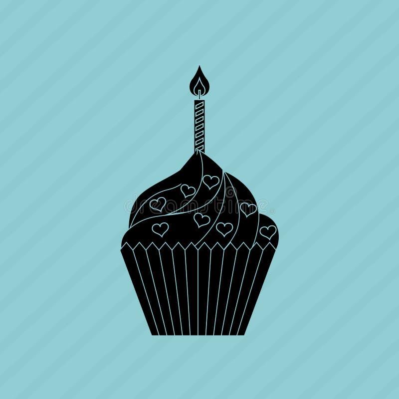 projeto delicioso da loja de pastelaria ilustração royalty free