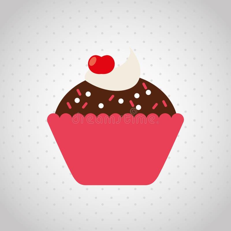 projeto delicioso da loja de pastelaria ilustração do vetor