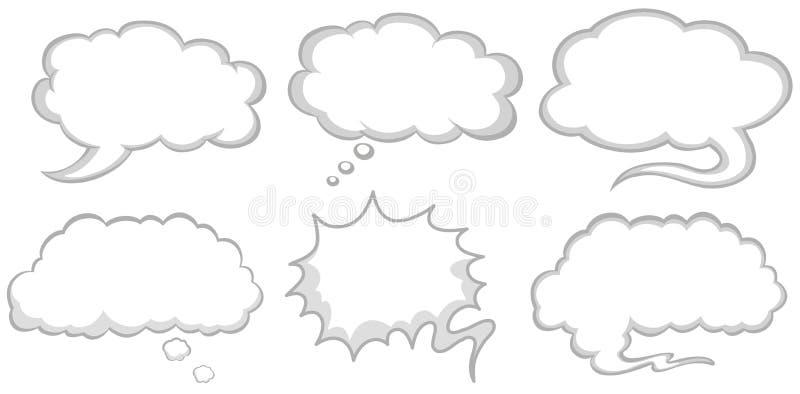 Projeto diferente de bolhas do discurso ilustração do vetor