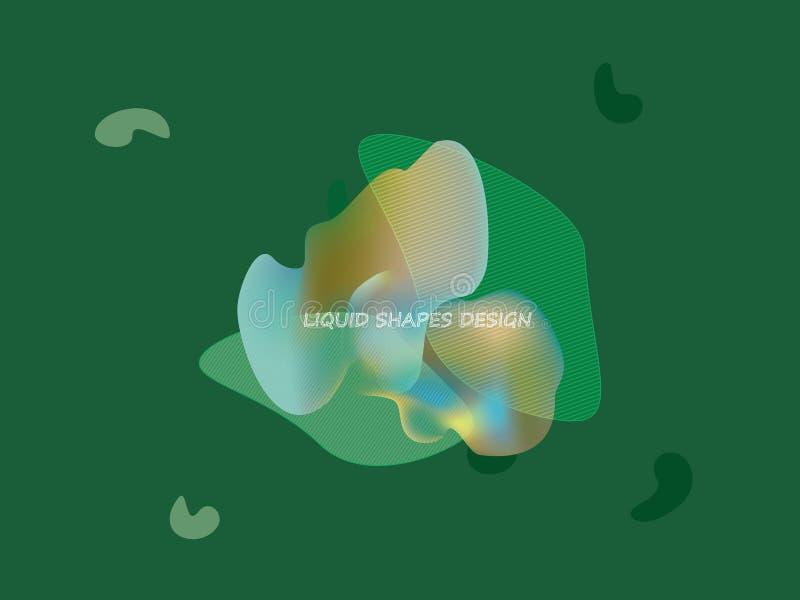 Projeto dinâmico abstrato do vetor das formas ilustração stock