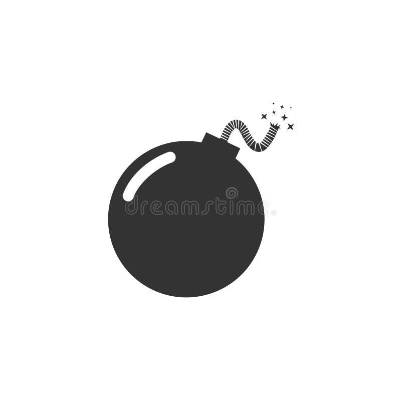 Projeto do ícone da bomba ilustração royalty free