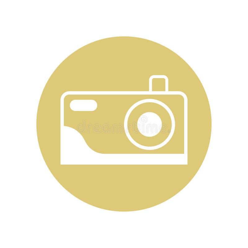 Projeto do ícone da câmera para mostrar que o lugar pode tomar uma imagem Ilustra??o do vetor isolada no fundo branco ilustração do vetor