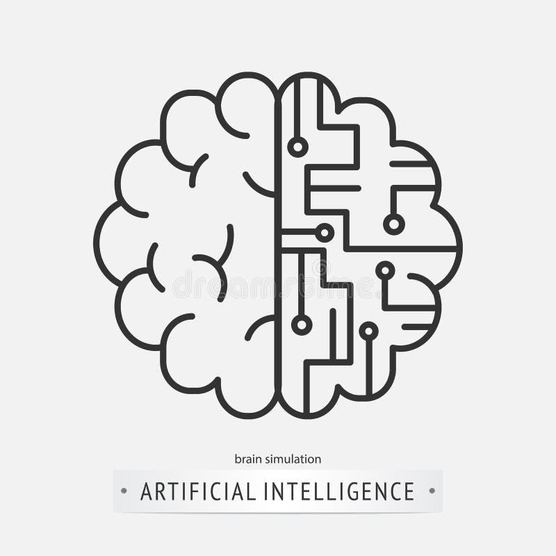 Projeto do ícone da inteligência artificial