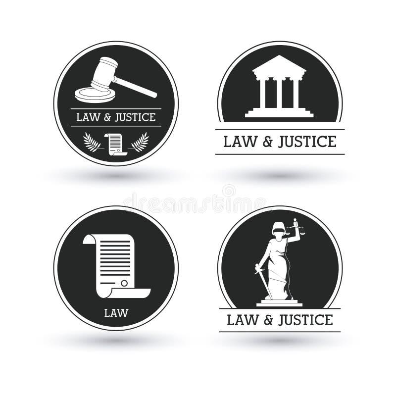 Projeto do ícone da lei e da justiça ilustração stock