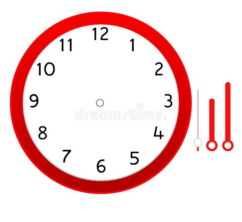 Projeto do ícone da placa da face do relógio ilustração do vetor