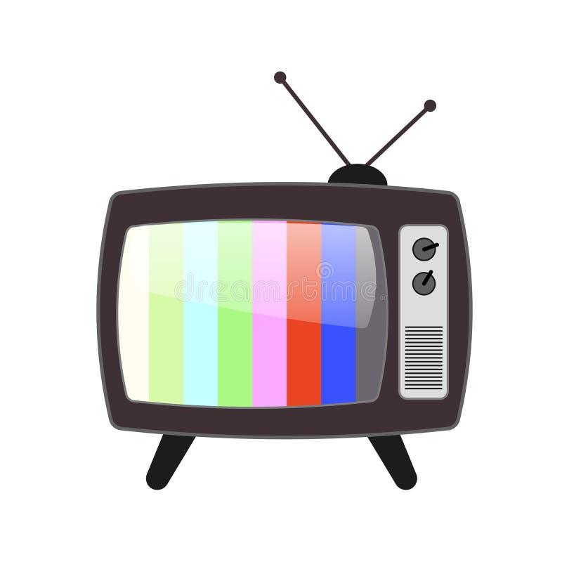 Projeto do ícone da televisão, ilustração do vetor ilustração stock