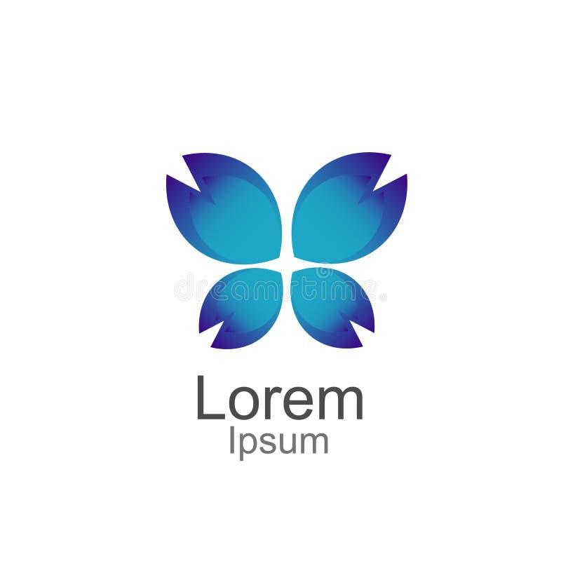Projeto do ícone de Logo Template Vetora da borboleta da beleza ilustração do vetor