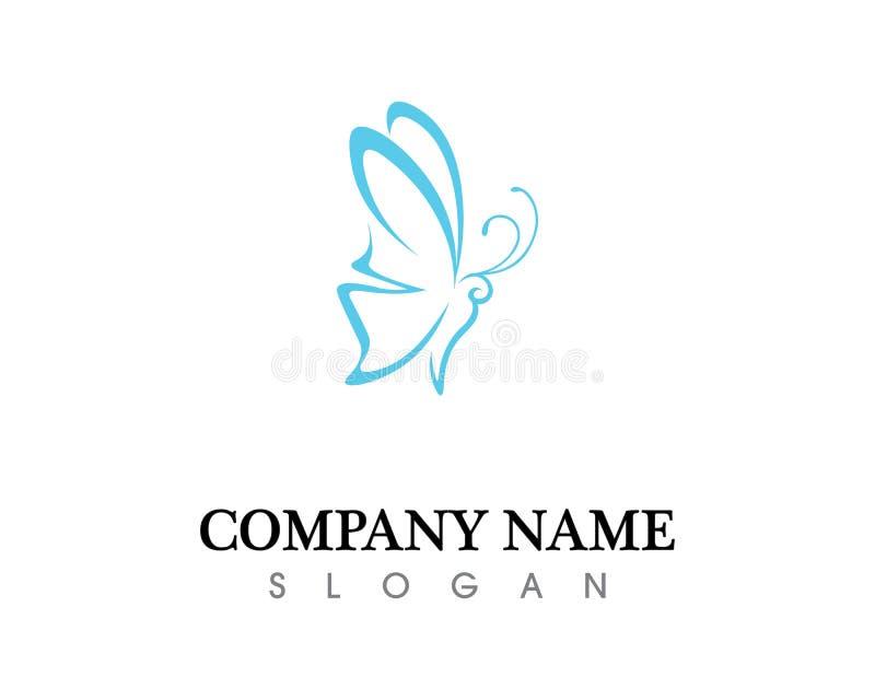 Projeto do ícone de Logo Template Vetora da borboleta da beleza ilustração stock