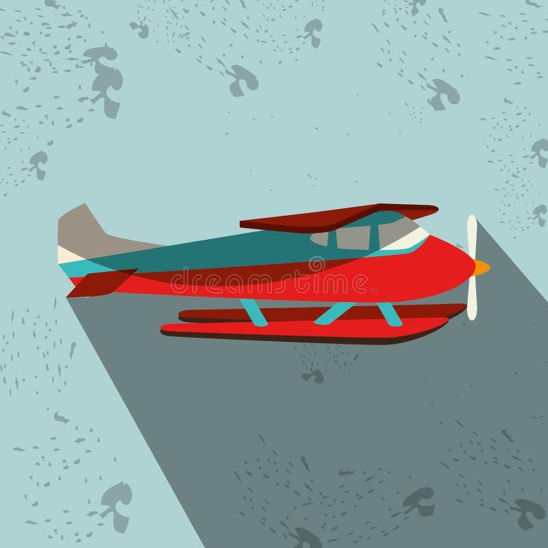 projeto do ícone do hidroavião ilustração stock