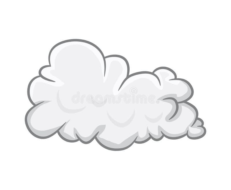 Projeto do ícone do símbolo do vetor da nuvem dos desenhos animados ilustração do vetor