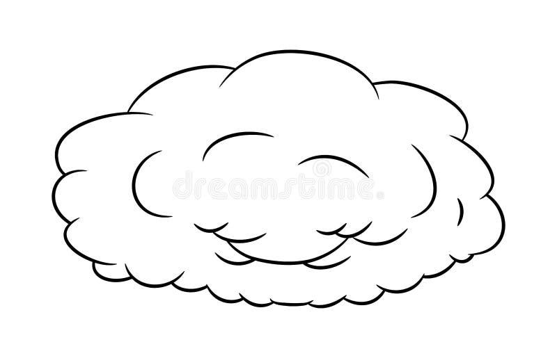 Projeto do ícone do símbolo do vetor da silhueta da nuvem ilustração do vetor