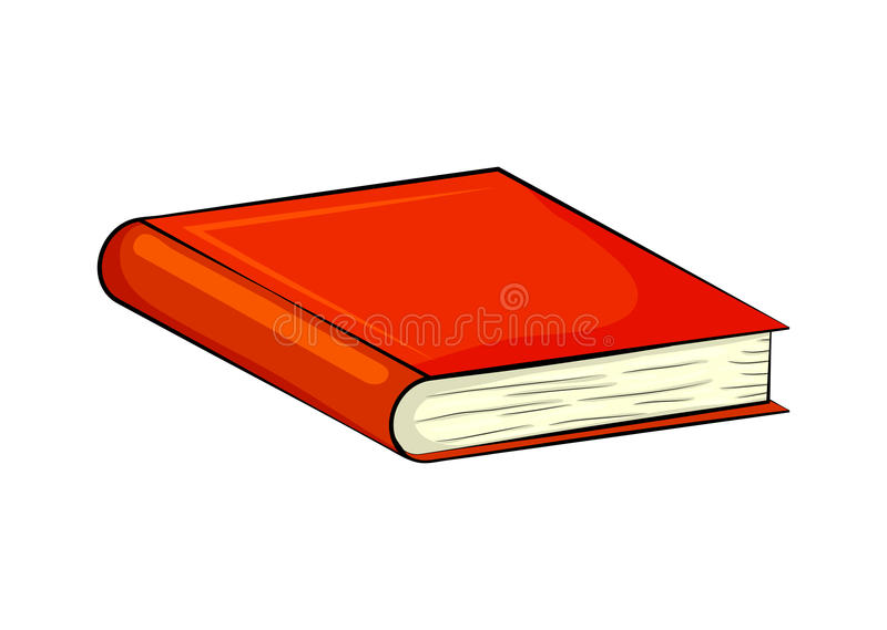 Projeto do ícone do símbolo do vetor dos desenhos animados do livro fechado Illustr bonito ilustração stock