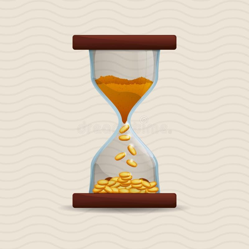 Projeto do ícone do tempo ilustração royalty free