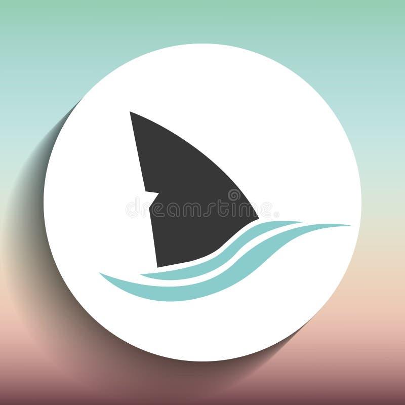 projeto do ícone do tubarão ilustração do vetor