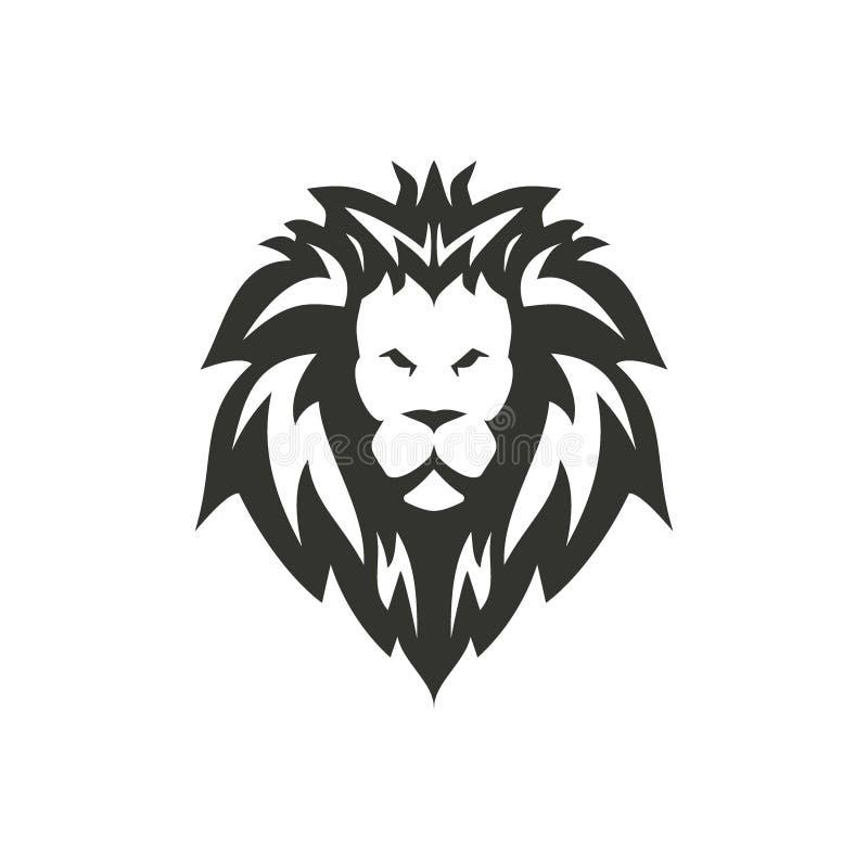 Projeto do ícone do leão do preto do vetor ilustração royalty free