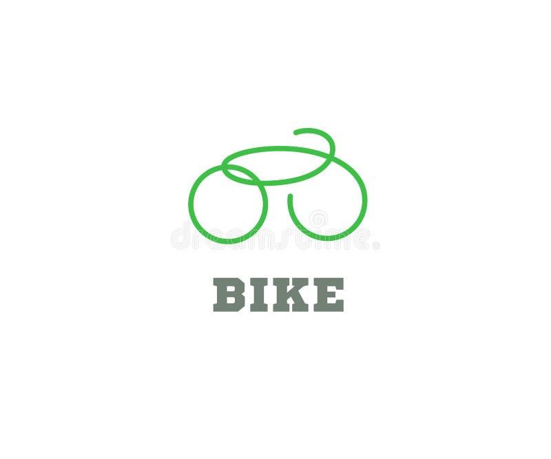 Projeto do ícone do logotipo da bicicleta ilustração stock