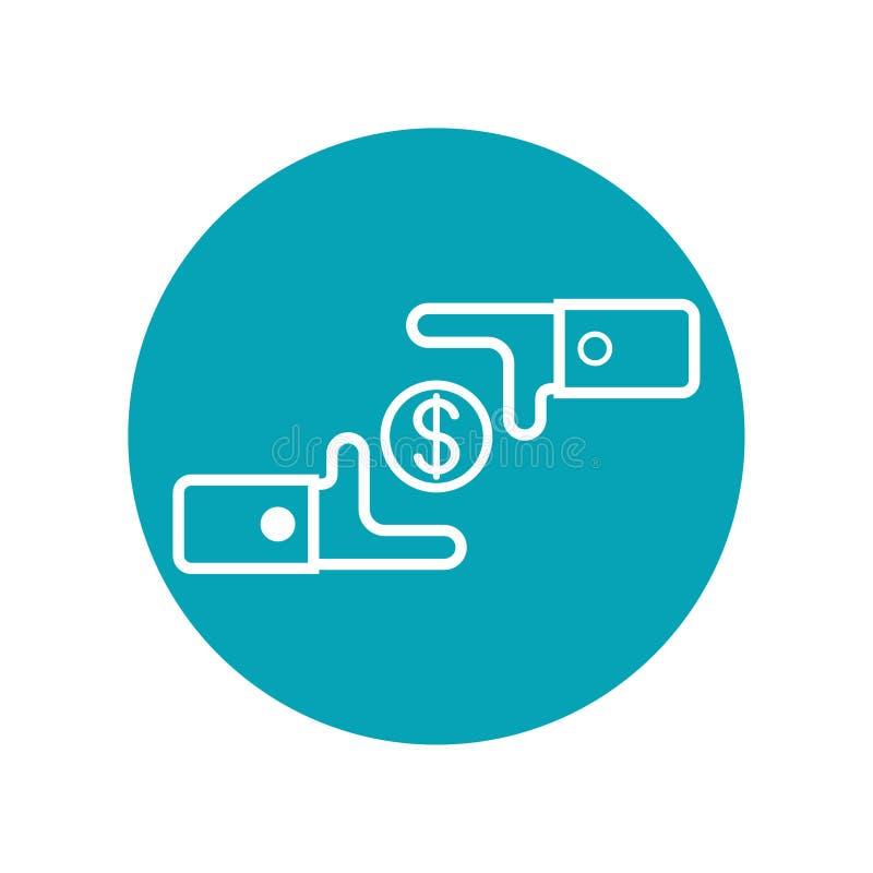 Projeto do ícone no conceito do exchage do dinheiro Ilustra??o do vetor isolada no fundo branco ilustração do vetor