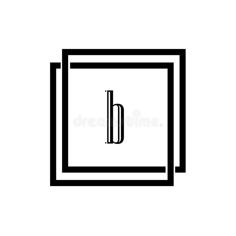 Projeto do ícone do vetor da letra B Logo Template ilustração royalty free