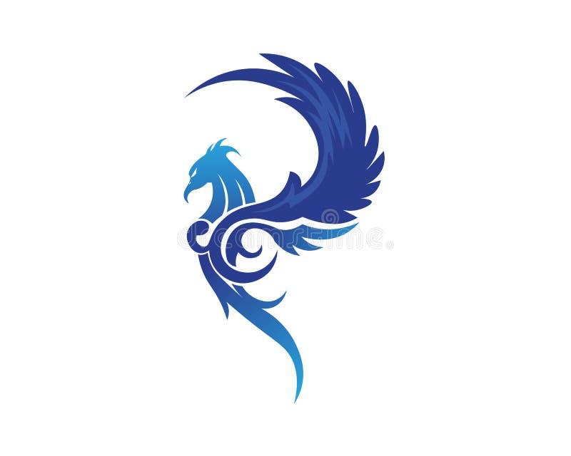 Projeto do ícone do vetor de Wing Logo Template do falcão ilustração royalty free