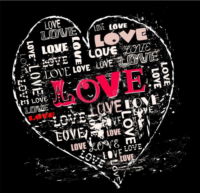 Projeto do amor, ilustração royalty free