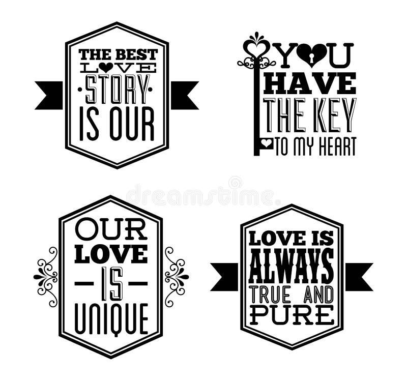 Projeto do amor ilustração do vetor