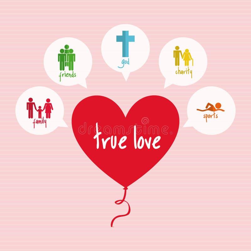 Projeto do amor ilustração royalty free