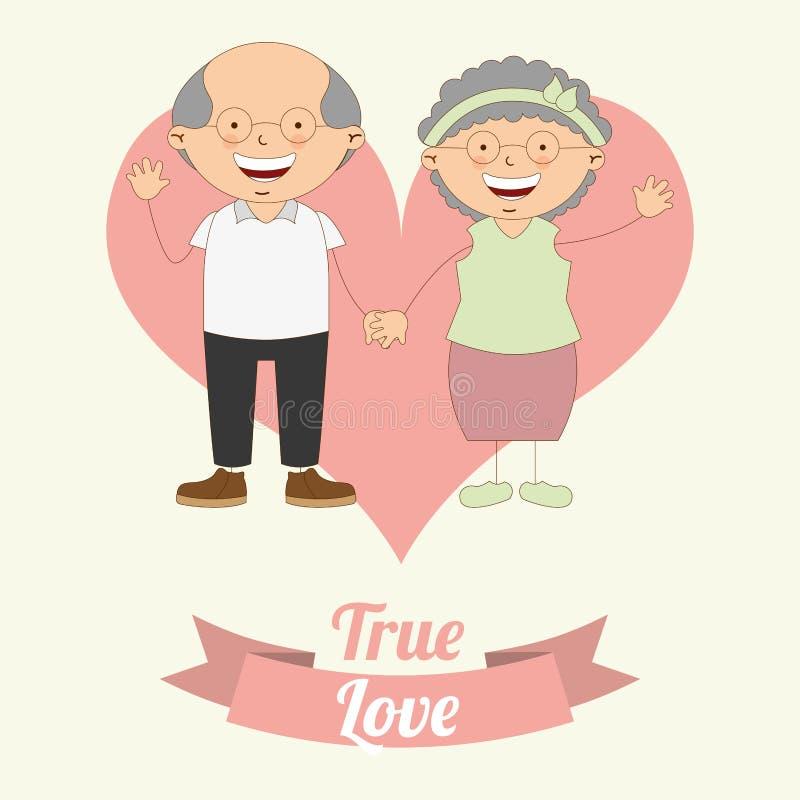 Projeto do amor ilustração stock