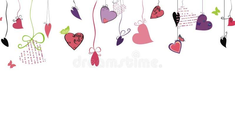 Projeto do amor com corações ilustração stock