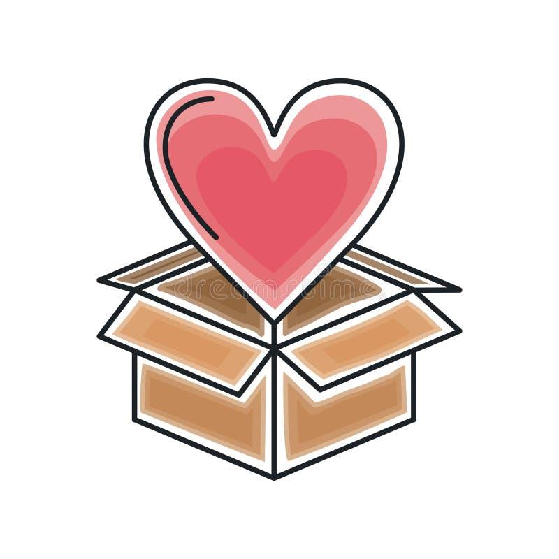 Projeto do amor do coração ilustração royalty free