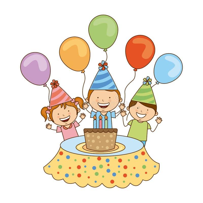 Projeto do aniversário ilustração royalty free