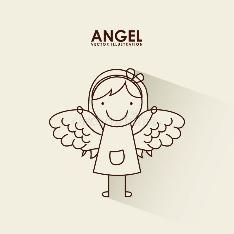 Projeto do anjo ilustração stock