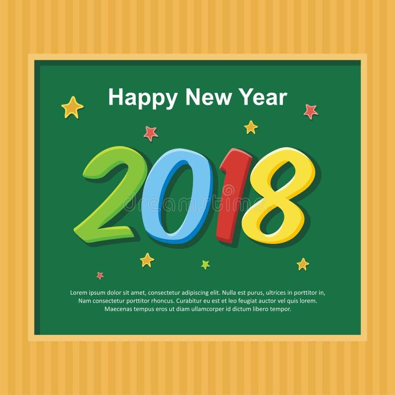 Projeto do ano novo feliz 2018 imagens de stock royalty free