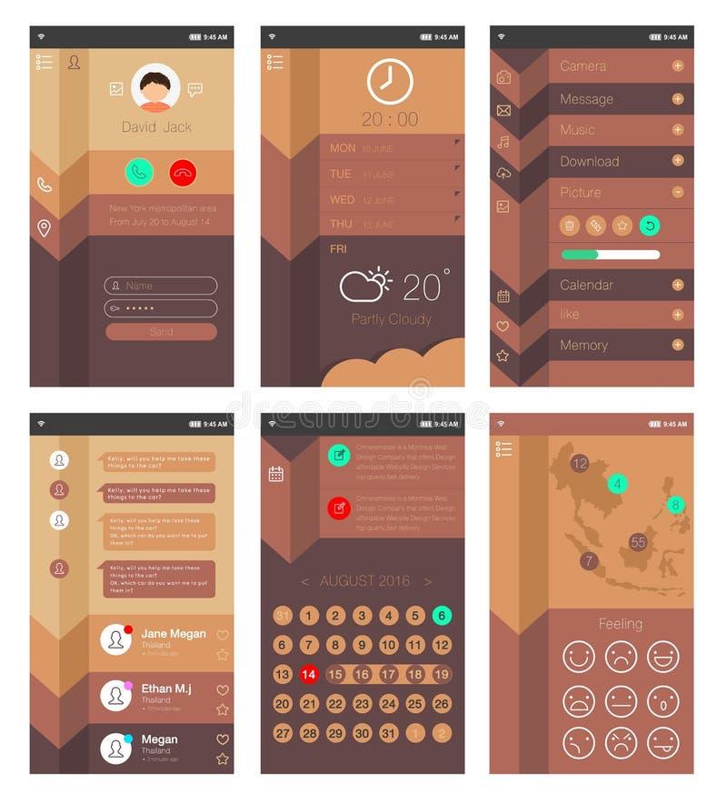 Projeto do App ilustração stock