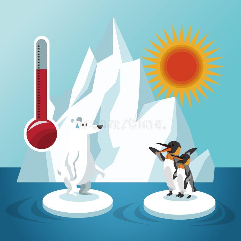 Projeto do aquecimento global e do ambiente ilustração stock