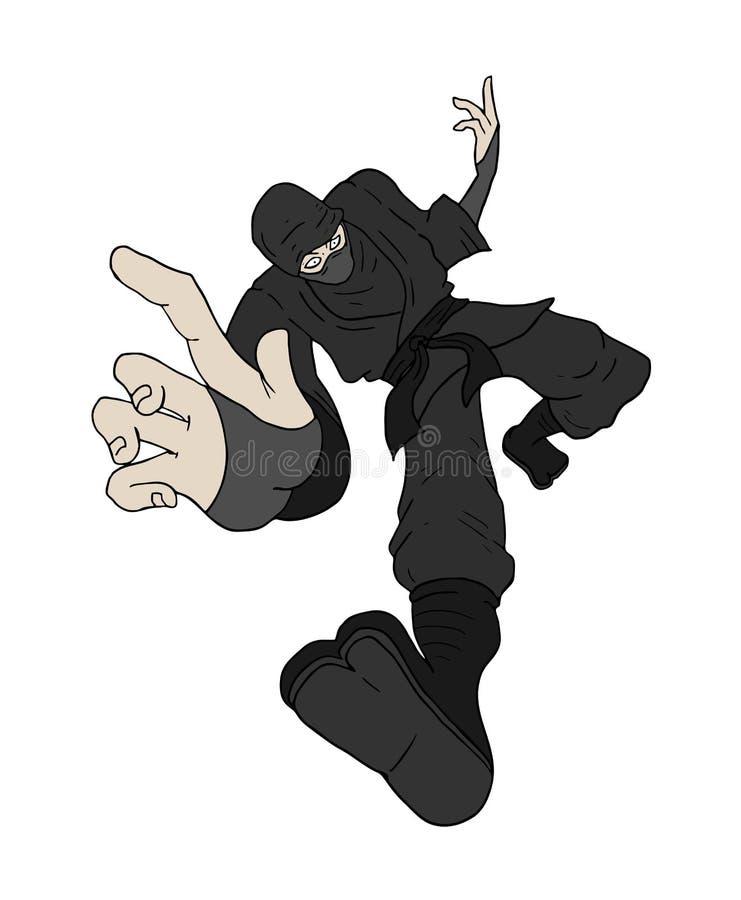 Projeto do ataque do ninja do dagner ilustração do vetor