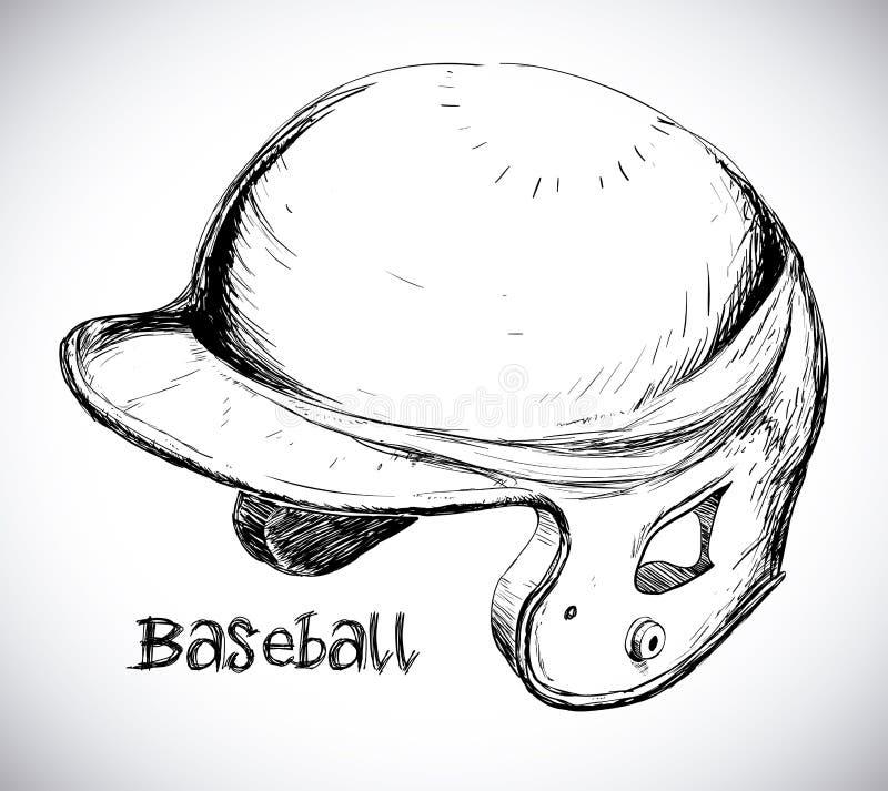 Projeto do basebol ilustração royalty free