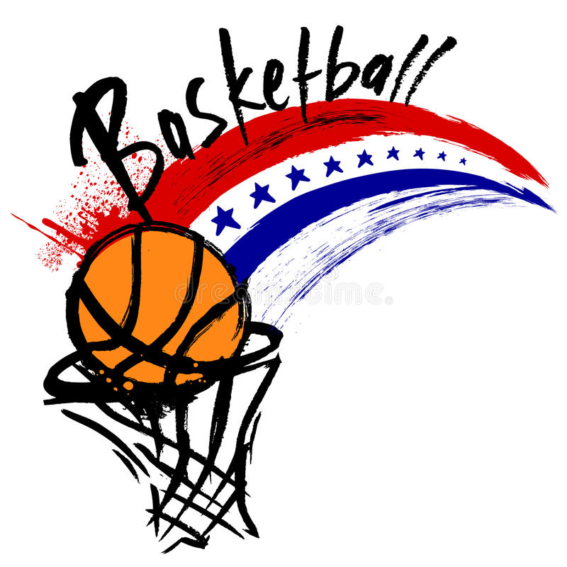 Projeto do basquetebol ilustração royalty free