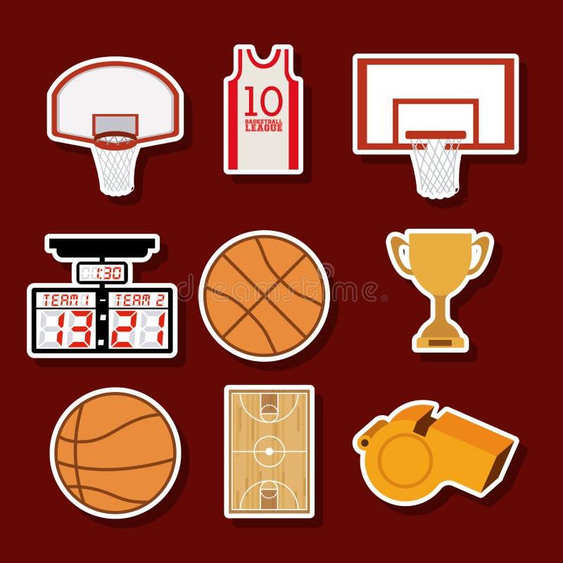 Projeto do basquetebol ilustração stock