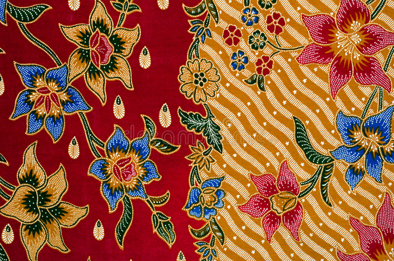 Projeto do Batik fotos de stock royalty free