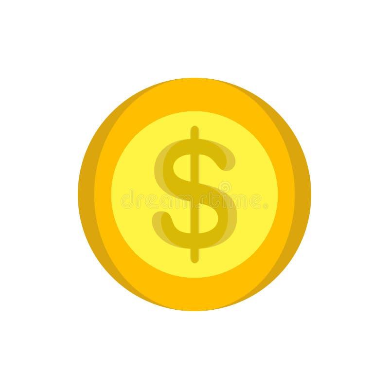 Projeto do círculo do dinheiro dos desenhos animados do projeto da ilustração do ícone do ouro do vetor do dinheiro das moedas ilustração royalty free