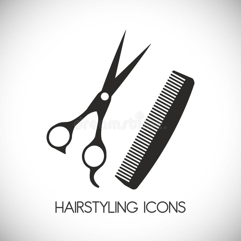 Projeto do cabeleireiro ilustração do vetor