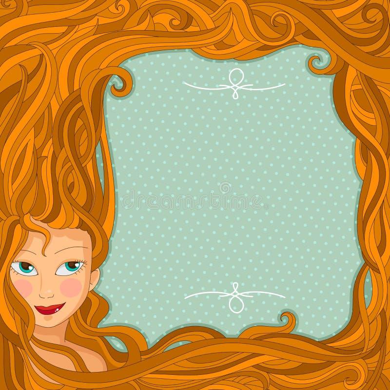 Projeto do cabelo ilustração royalty free